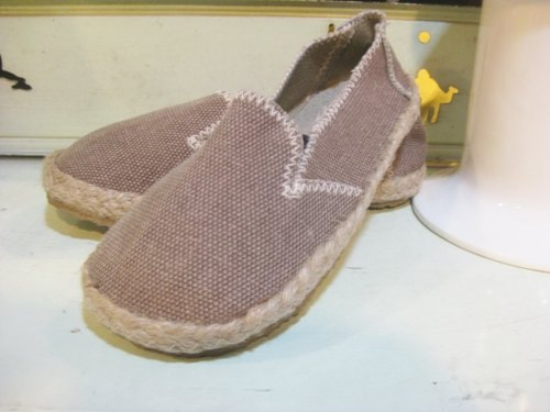 Happy feet lazy shoes baby shoes handmade hemp paragraph