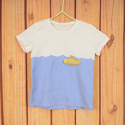 My summer travel light organic cotton T- diving creative fun