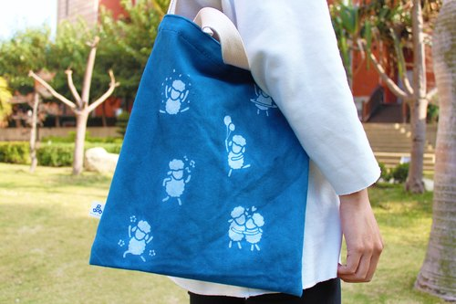 Aizen dual canvas bag / Bleater