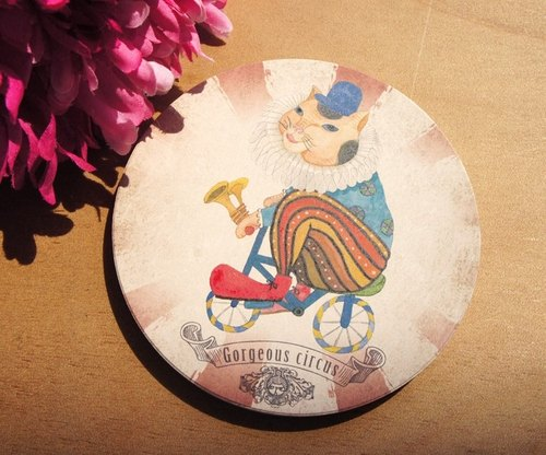 Sewing ball gorgeous circus ceramic coaster brook
