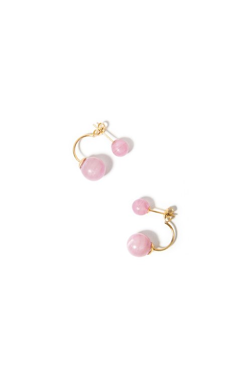 LUZID • THE DOT series fashion earrings pink marbled