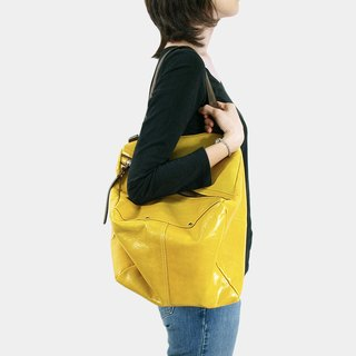 Influxx Qb Large Leather / Messenger Bag - Spectra Yellow