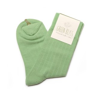 GREEN BLISS Organic Cotton Socks - [Plain Embossed] Amazon Sprout Green Broiler Green Stockings (Male / Female)