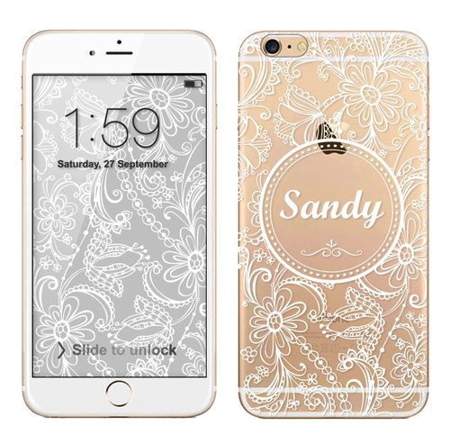 Transparent Phone Case (additive name) - Lace no.30 (background download)