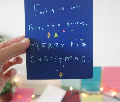 * Halo! Christmas --- Hey Darling Christmas cards (9 color)