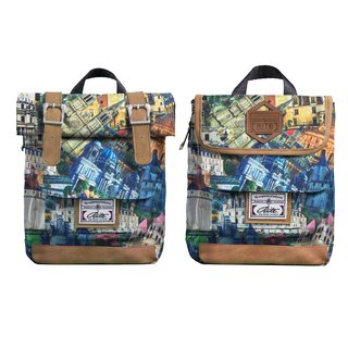 RITE twin package ║ flight bag x vintage bag (XS) - City mark color ║