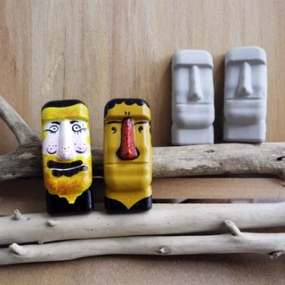 Easter Island Moai stone statues magnet mini - tour of Africa uncle who