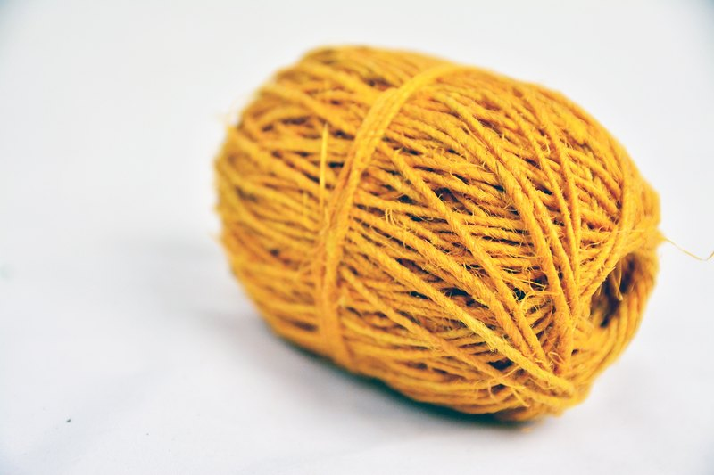 Hemp twine-yellow-fair trade
