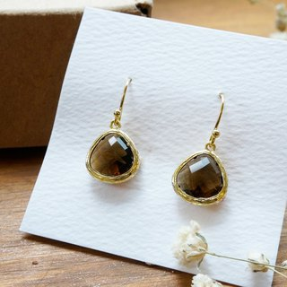 Edith & Jaz • Birthstone Collection - Smoky Topaz(November) Earrings