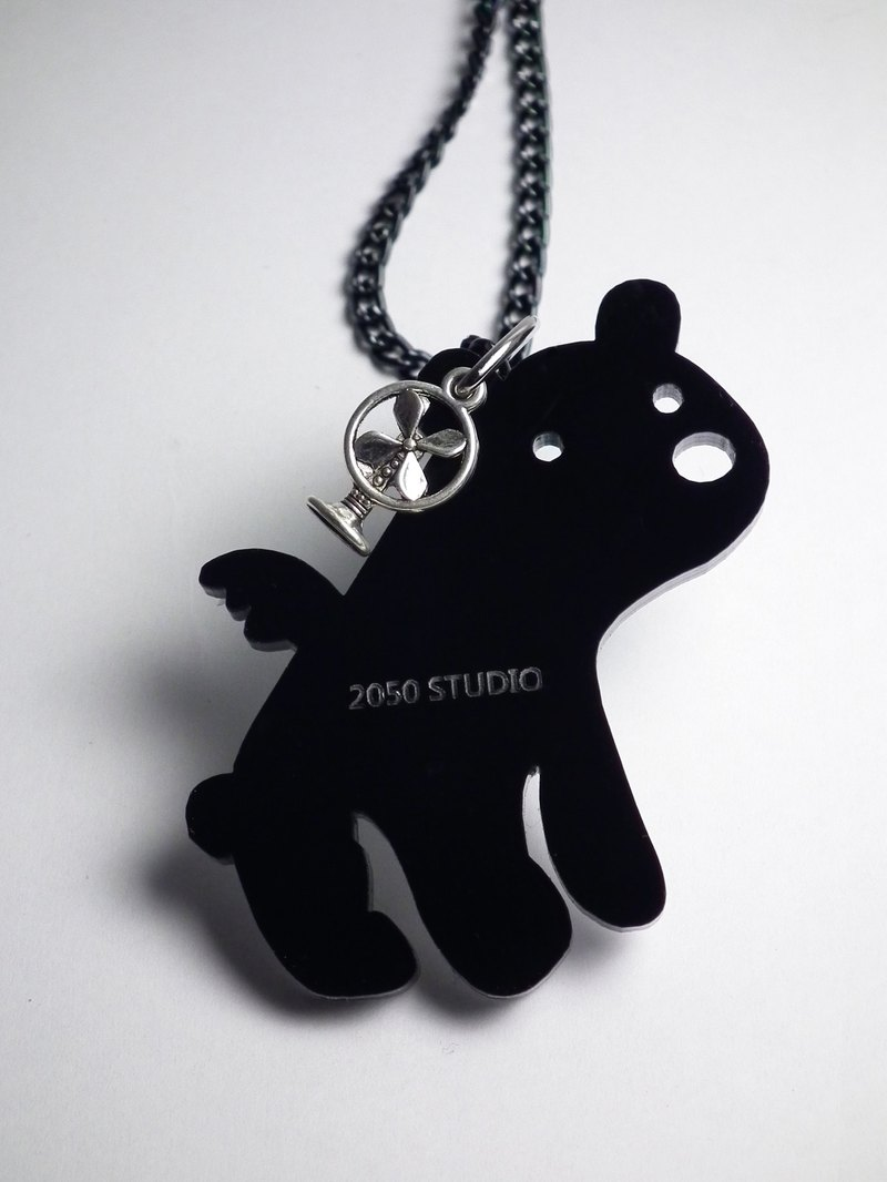 Lectra Flying Duck ▲ ▲ polar bear necklace / keychain
