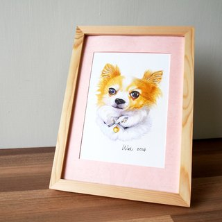 Pure hand-painted color pencil pet portrait (pure avatar) (with box)