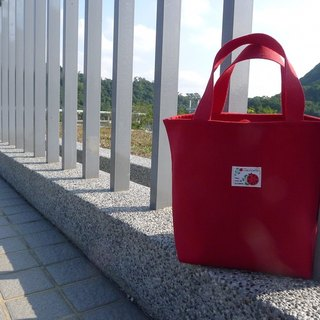 | • R • | Palette bag / lunch bag / Universal bag | Beam type | Japanese ladybug cloth standard | Red