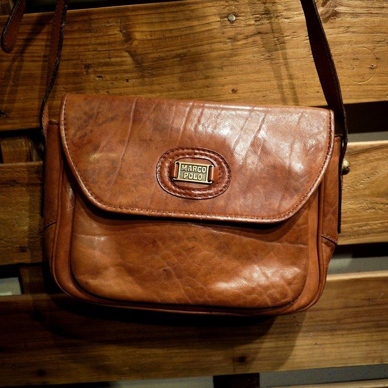 Skarn Shika    Vintage bag classic brand MARCO POLO classic dorsal skin  color top Italian handmade leather bag  A1-008  - Designer modern-times  bd6ca77a0c663