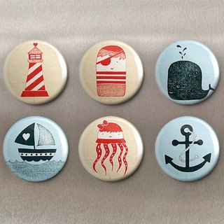 Nautical Adventure - Magnet (6 in) / Badge (6 in) / Birthday Gift [Special U Design]