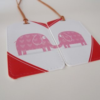 Luggage tag - kiss my elephant Valentine's Day / wedding gift