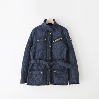 A ROOM MODEL - VINTAGE, CJ-3001 blue-gray Barbour Quilted Jacket