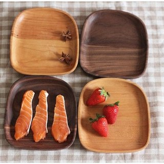Xi Shan Kobo - head chopping wood, fruit plate, dessert plate, dessert plate - bread round shape small fruit (cherry, walnut)