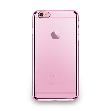 iPhone 6s Plus - metal light through a sense of protective soft cover - rose pink