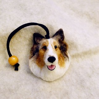Customized pet wool felt - head leather rope hanging ornaments - please provide photos for custom models (price fixed)