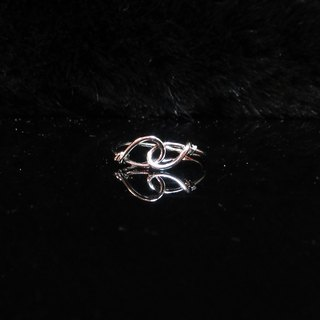 Winwing wire braided rings - [bicyclic ring]. Handmade. Commemorative ring. Valentine's Ring