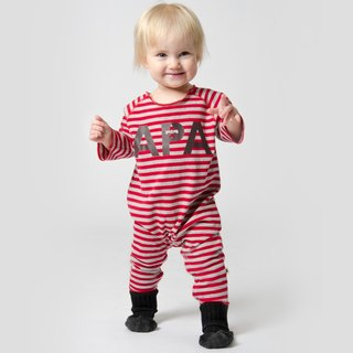 Nordic organic cotton children's clothing striped bag fart red