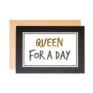 FOR YOU系列 幸福小卡 - QUEEN FOR A DAY