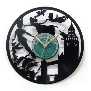[Time traveler 1888] vinyl clock. Peter Pan