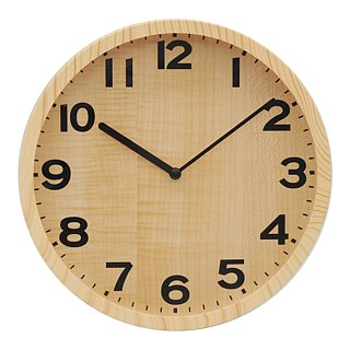Natural - special spray wood wall clock (plastic)