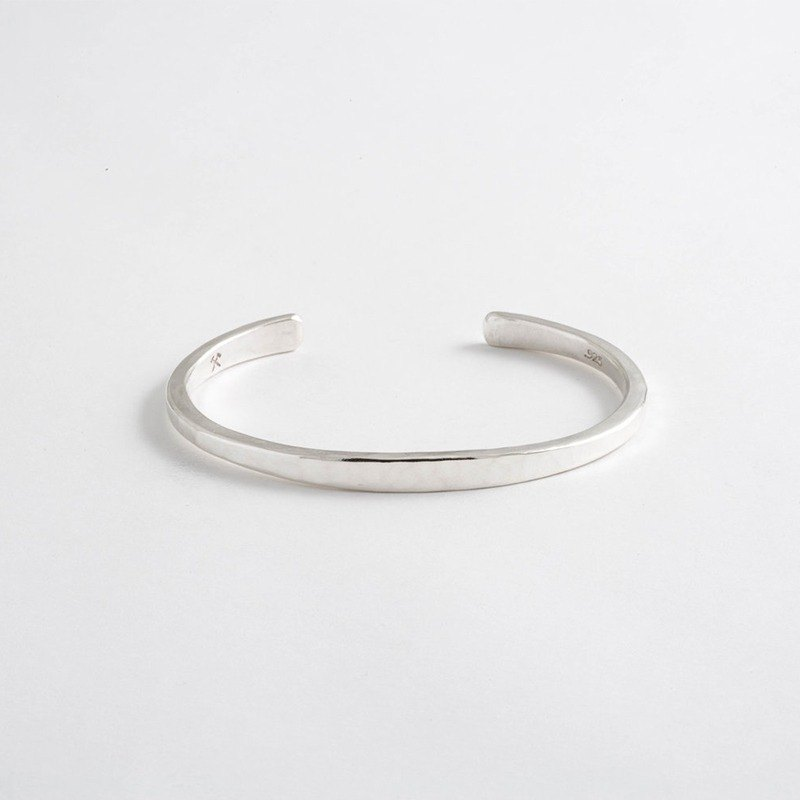 Studebaker Metals - Handmade Forged Workshop Cuff Sterling Silver Bracelet