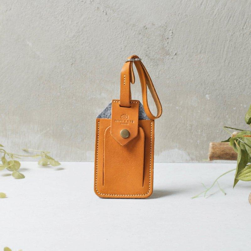 進口皮革行李吊牌 可客製刻字DG11