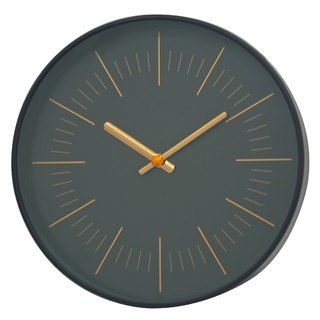 Mod - Black Rose Gold Line Clock (Metal)