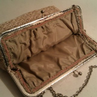 Vintage French Clutch Handbag Tote antique French