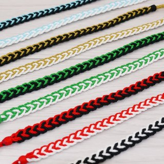 噗妃 - - pure hand-woven lucky bracelet surf foot ring foot rope M (cotton)