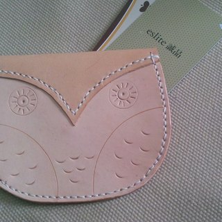 Hand-carved owl purse / card can be placed / Spot