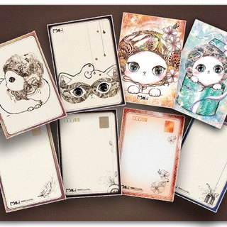 [Warm cat] exquisite hand-painted postcards (set of 4 +1 sheets Special Edition)