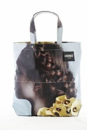 [URFACE] KACHAIN ​​Artist Series / side faces braided girl Shopping Bag
