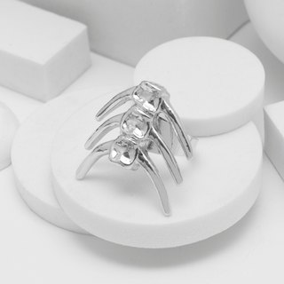 Fishbone Ring (Silver)