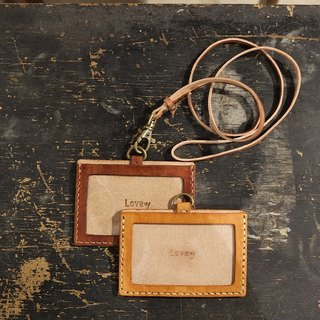 Lovey leather small things / card holder identification card travel card sets ticket clip - Coke Li