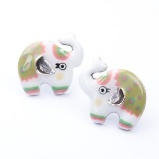 [] Paris Taratata elephant earrings handmade enamel little cold wind elephant exotic romantic folk style handmade jewelry earrings Europe