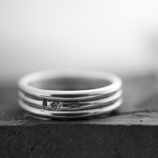 【janvierMade】Delicate Signature Line Sterling Silver Ring / Contemporary Signature Line Ring / 925 Sterling Silver Handmade