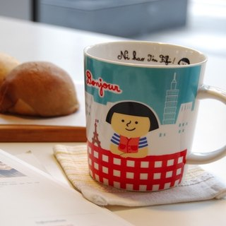 ★ Ni Hao, I'm FiFi ★ mug - FiFi and her small pet