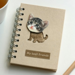 Love the Earth also love animals Notebook - Recycled Notebook - nice little kitty
