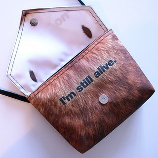 Anti-Fur Shoulder Bag--the THANK YOU Bag (Rabbit)