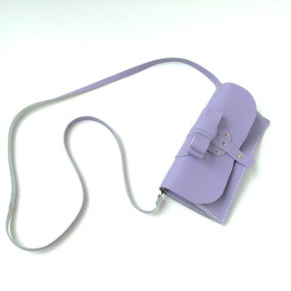 Zemoneni leather lady purse and shoulder bag phone Case in Light purple color