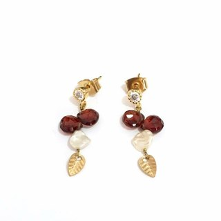 Little Elegant Garnet Earrings
