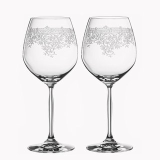 (One pair price) 710cc [MSA] German wedding cup dedicated to vintage theatrical SPIEGELAU platinum crystal cup cup wedding gift Burgundy