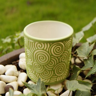 Good fit cup spring fragrance garden green clouds