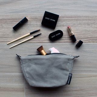 Waxed Canvas Essentials Pouch -Grey