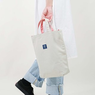 ::Bangstree:: two-colored reversible canvas bag -Gray+Pink