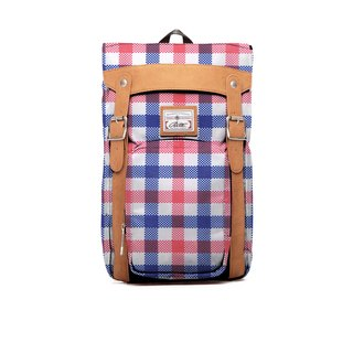 RITE | Brat Pack - red, white and blue grid | after the original removable backpack
